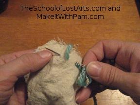 Back stitch.