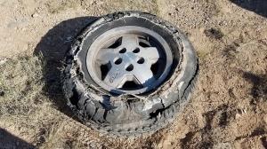 Very flat tire