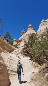 hiking in the tent rocks